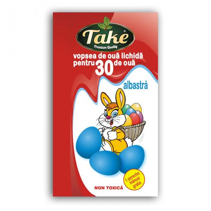 Vopsea de oua lichida albastra pentru 30 oua